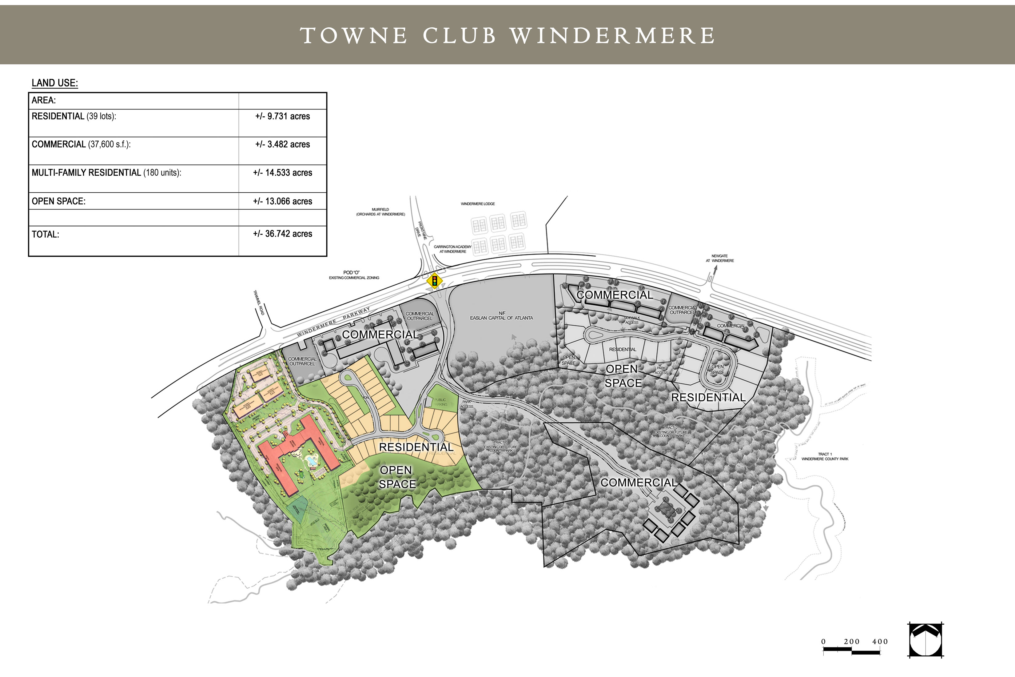 (6) SITE PLAN. Town Club Windermere.RHF.WCH Site Plan.11X17.12.5.08